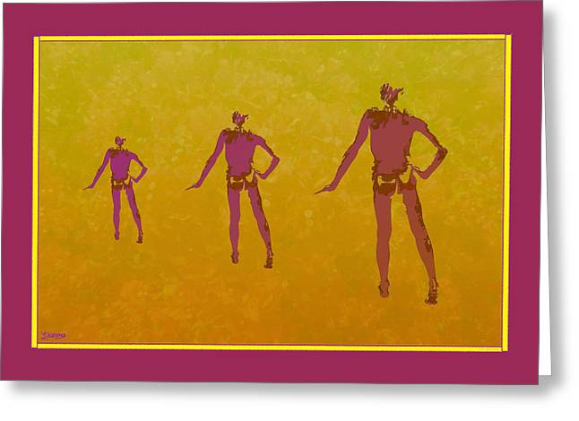 Male In Perspective Greeting Card
