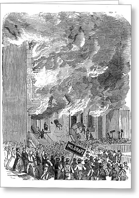New York City Draft Riots, 1863 Greeting Card by British Library
