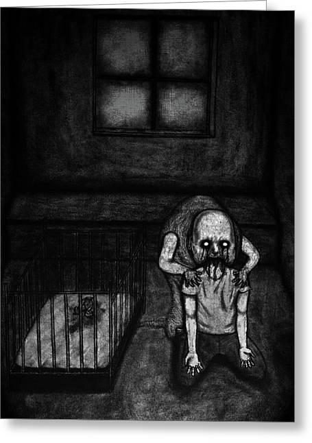 Nightmare Chewer - Artwork Greeting Card