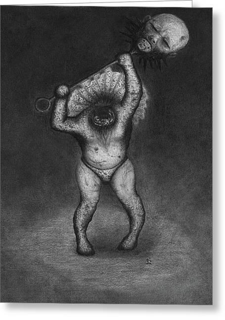 Nightmare Rattler - Artwork Greeting Card