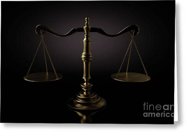 Scales Of Justice Dramatic Greeting Card