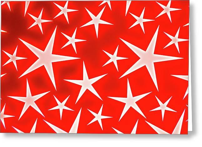 Star Burst 3 Greeting Card