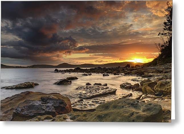 Stormy Sunrise Seascape Greeting Card