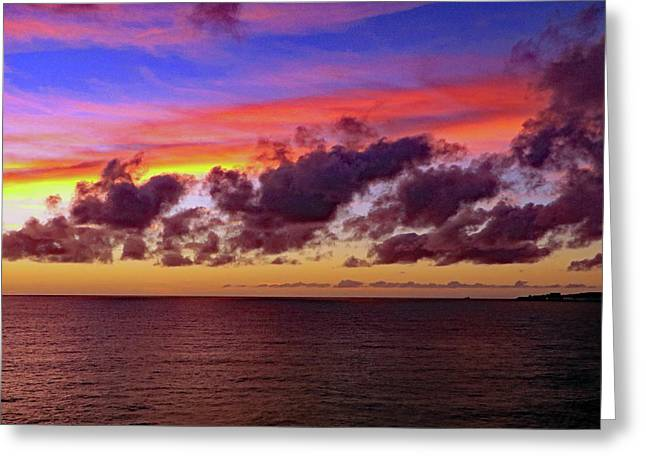 Greeting Card featuring the photograph Sunset by Tony Murtagh