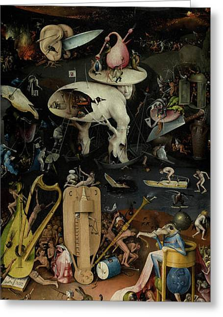 The Garden Of Earthly Delights, Right Panel Greeting Card