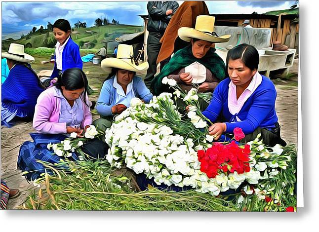 Palm Sunday In Cajamarca. Greeting Card