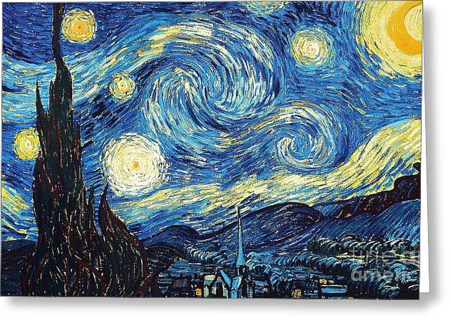 Starry Night By Van Gogh Greeting Card