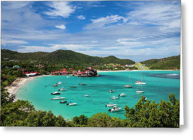 French West Indies, St-barthelemy Greeting Card by Walter Bibikow