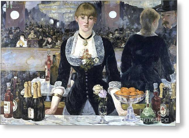 A Bar At The Folies Bergere Greeting Card