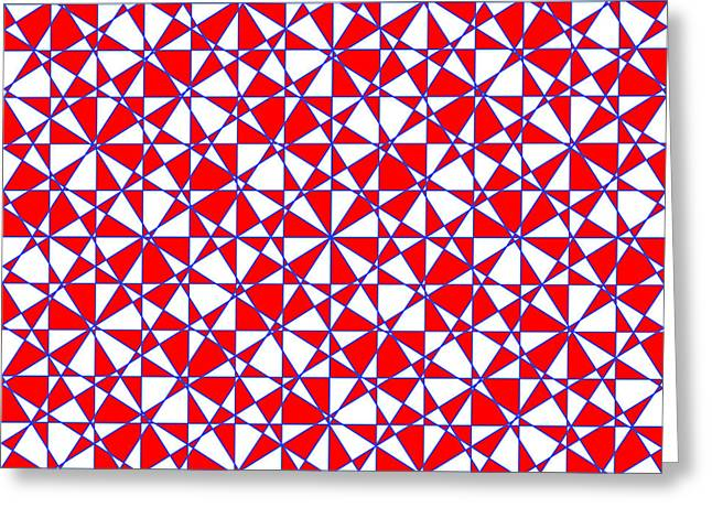 Crazy Psychedelic Art In Chaotic Visual Color And Shapes - Efg22 Greeting Card