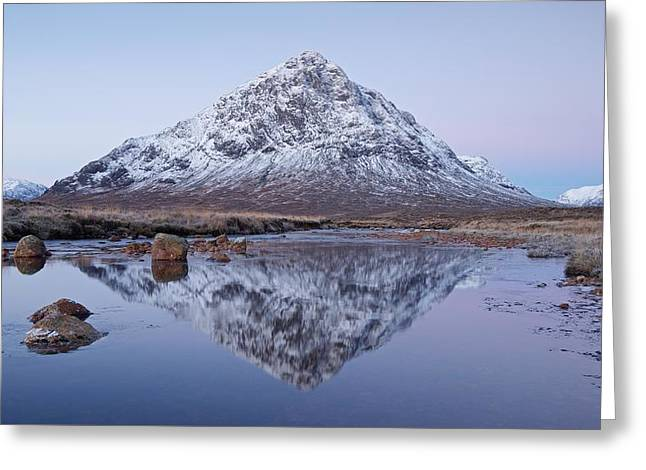 Greeting Card featuring the photograph Dawn In Glencoe by Stephen Taylor