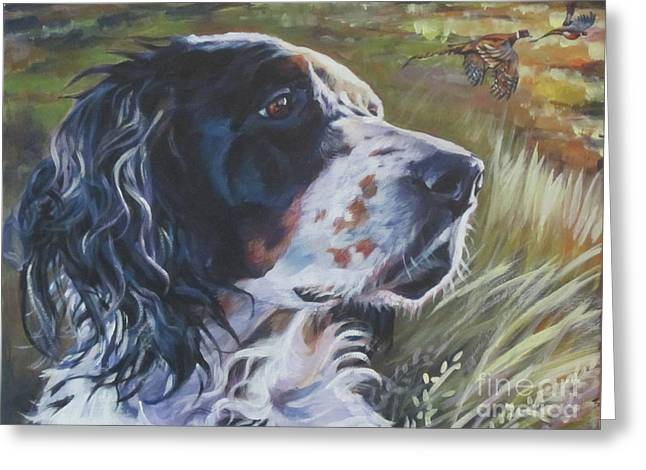English Setter In The Field Greeting Card