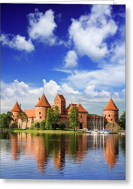 Lithuania, Vilnius Greeting Card by Miva Stock