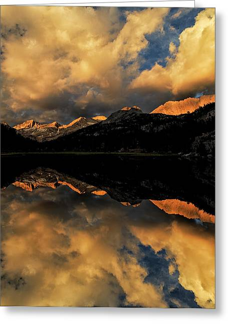 Marsh Lake At Sunrise, John Muir Greeting Card by Adam Jones