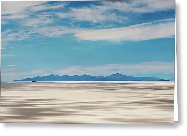 Salar De Uyuni, Bolivia Greeting Card by Anthony Asael