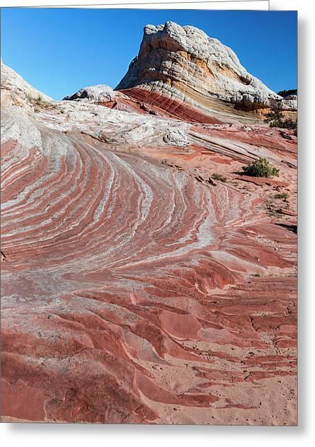 Sandstone Landscape, Vermillion Cliffs Greeting Card by Howie Garber