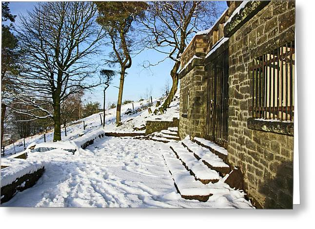 30/01/19  Rivington. Summerhouse In The Snow. Greeting Card