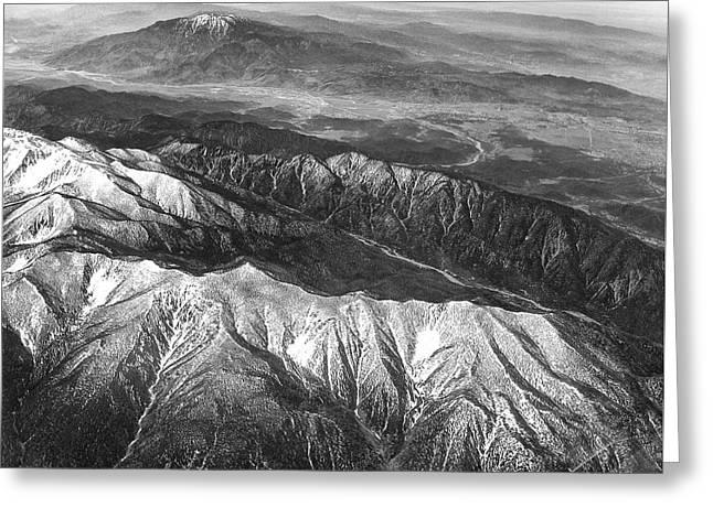 35,000 Feet Over Utah Greeting Card