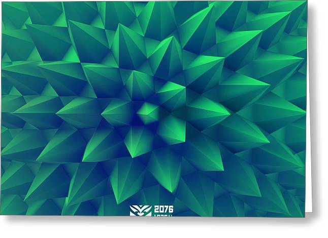 3d Abstract Background. Vector Greeting Card