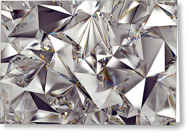 3d Abstract Crystal Clear Background Greeting Card