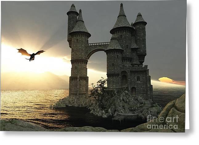 3d Illustration Fantasy Landscape With Greeting Card