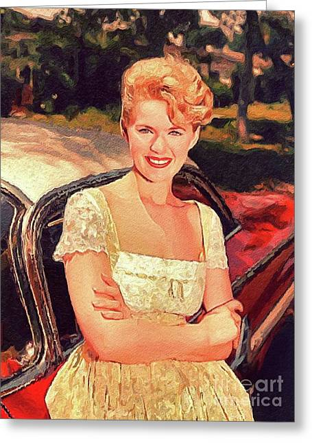 Connie Stevens, Vintage Actress Greeting Card