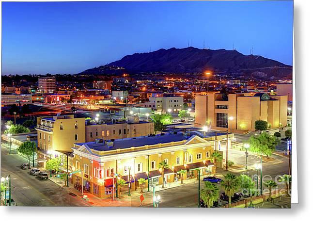 El Paso, Texas Greeting Card by Denis Tangney Jr