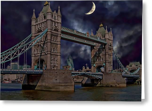 London Tower Bridge Greeting Card