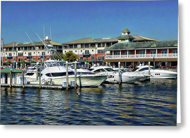 Greeting Card featuring the photograph Palafox Pier by Anthony Dezenzio