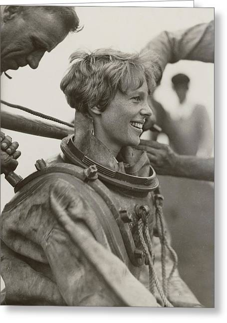 Amelia Earhart, American Aviatrix Greeting Card by Science Source