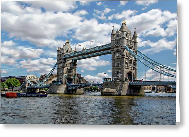 Greeting Card featuring the photograph London Tower Bridge by Anthony Dezenzio