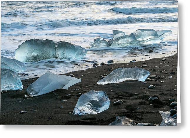 The Diamond Beach, Jokulsarlon, Iceland Greeting Card