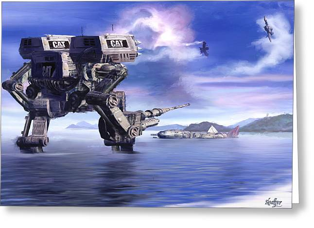 501st Mech Defender Greeting Card