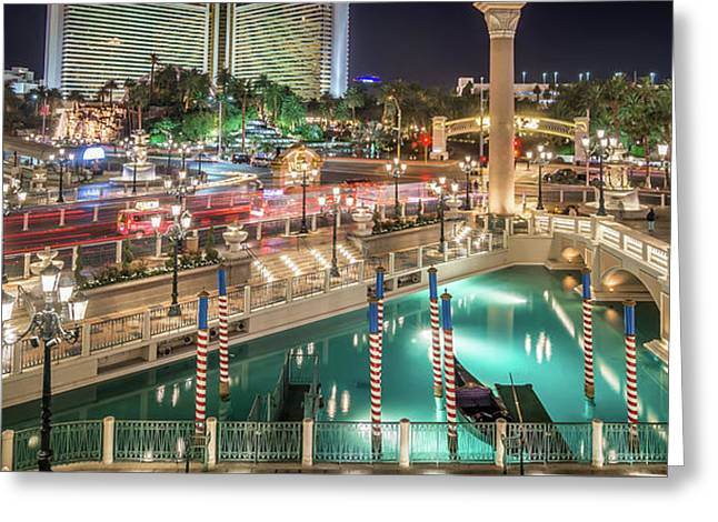 View Of The Venetian Hotel Resort And Casino Greeting Card