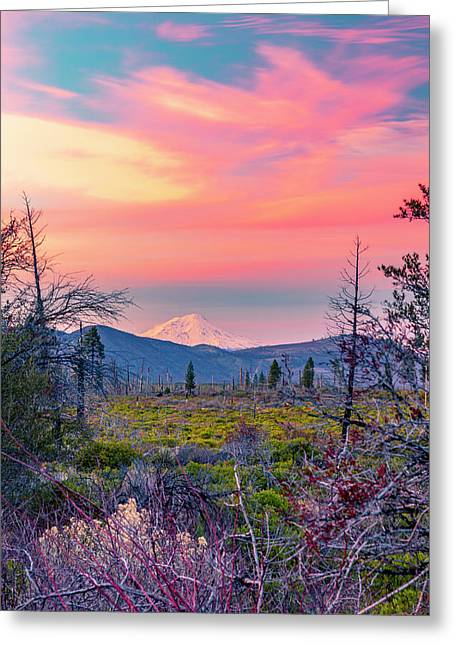 60 Miles To Mount Shasta Greeting Card