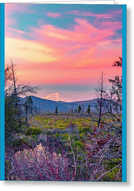 60 Miles To Mount Shasta Greeting Card