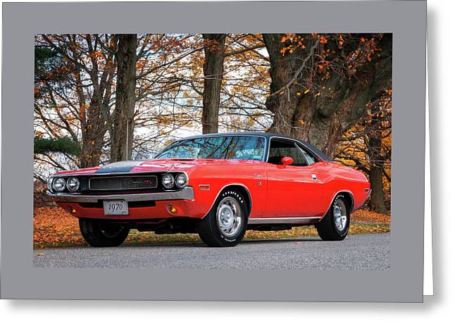 70 Dodge Challenger Rt - Driver Side Greeting Card