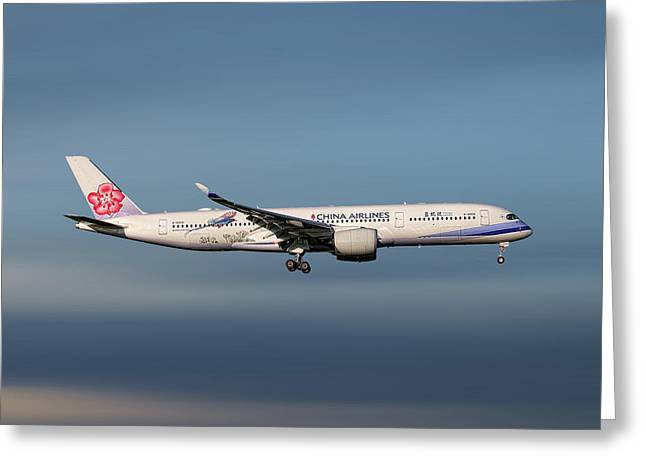 China Airlines Airbus A350-941 Greeting Card