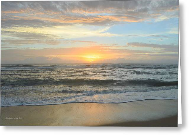 Greeting Card featuring the photograph 9/17/18 Obx Sunrise  by Barbara Ann Bell