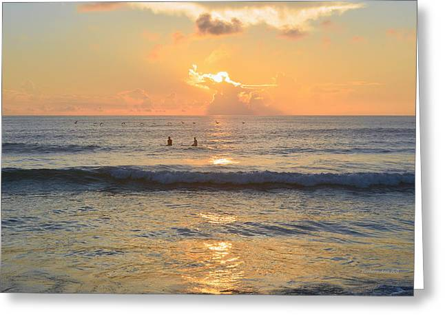 Greeting Card featuring the photograph 9/3/18 Kitty Hawk Sunrise by Barbara Ann Bell