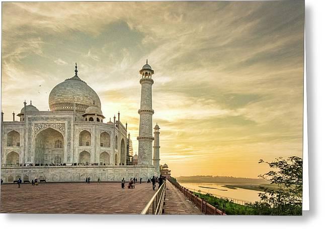 India, Uttar Pradesh Greeting Card by Alison Jones
