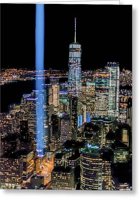 911 Lights Greeting Card
