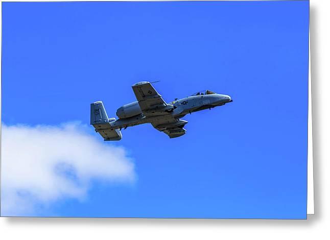 A-10c Thunderbolt II In Flight Greeting Card