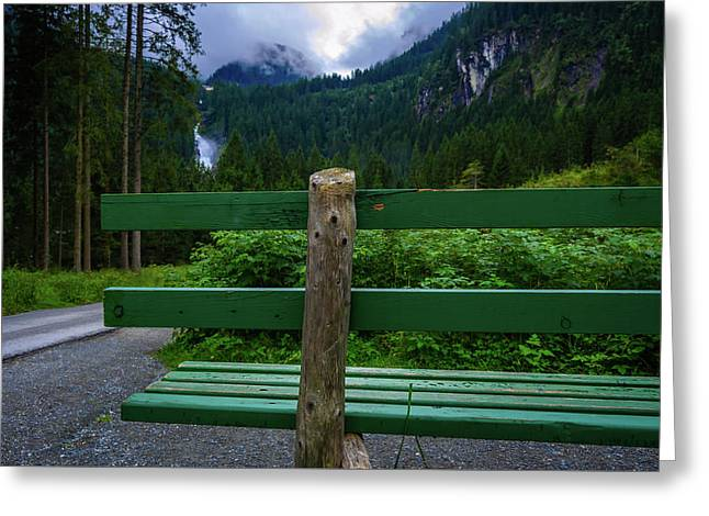 A Bench In The Woods Greeting Card