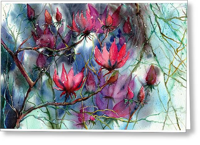A Blooming Magnolia Greeting Card