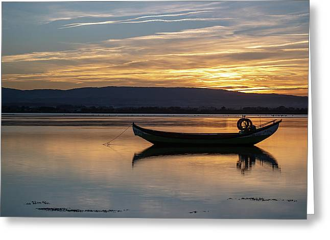 Greeting Card featuring the photograph A Boat by Bruno Rosa