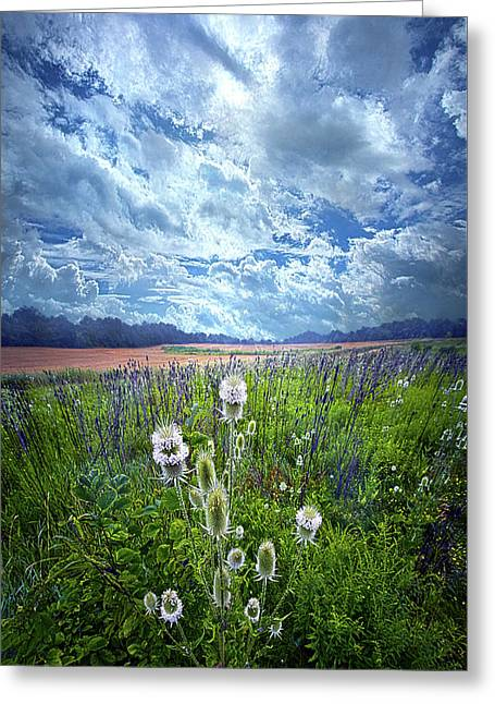 Greeting Card featuring the photograph A Chance Of Rain by Phil Koch