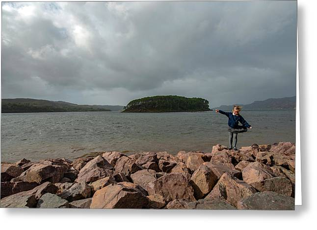 A Charming Little Girl In The Isle Of Skye 1 Greeting Card