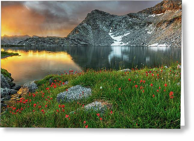 A Colorful Mountain Morning Greeting Card