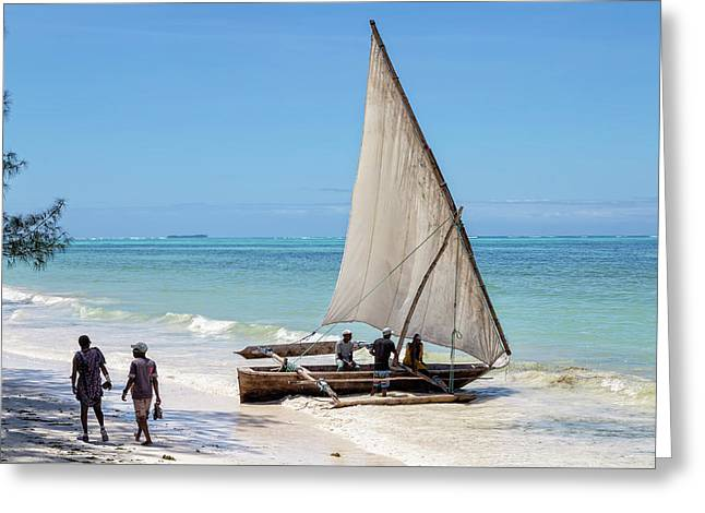 A Dhow In Zanzibar Greeting Card